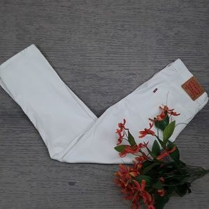 Levi white 511 jeans